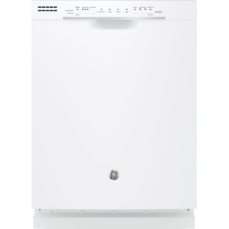 GE 54-Decibel Built-In Dishwasher with Hard Food Disposer (White) (Common: 24-in; Actual: 23.75-in)