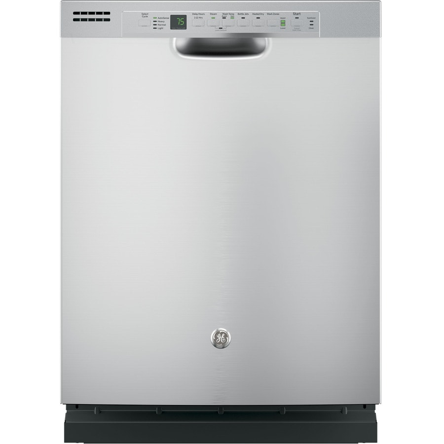 GE 51-Decibel Built-in Dishwasher with Bottle Wash Feature (Stainless Steel) (Common: 24-in; Actual: 23.75-in) ENERGY STAR