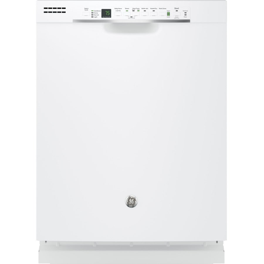 GE 51-Decibel Built-In Dishwasher with Bottle Wash and Hard Food Disposer (White) (Common: 24-in; Actual: 23.75-in) ENERGY STAR