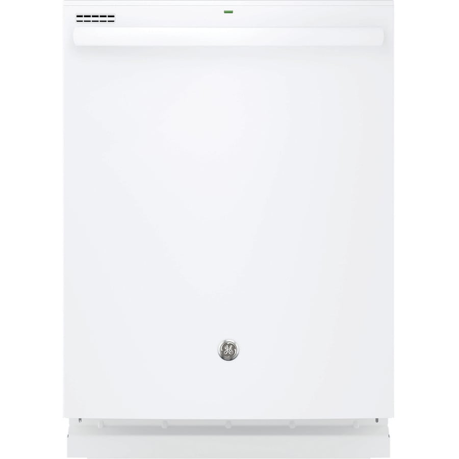 GE 48-Decibel Built-In Dishwasher with Bottle Wash Feature and Hard Food Disposer (White) (Common: 24-in; Actual: 23.75-in)
