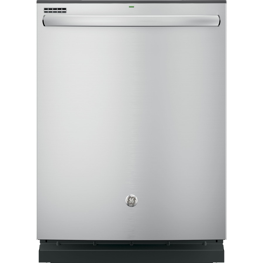Shop GE 24-in Stainless Steel Dishwasher With Hidden