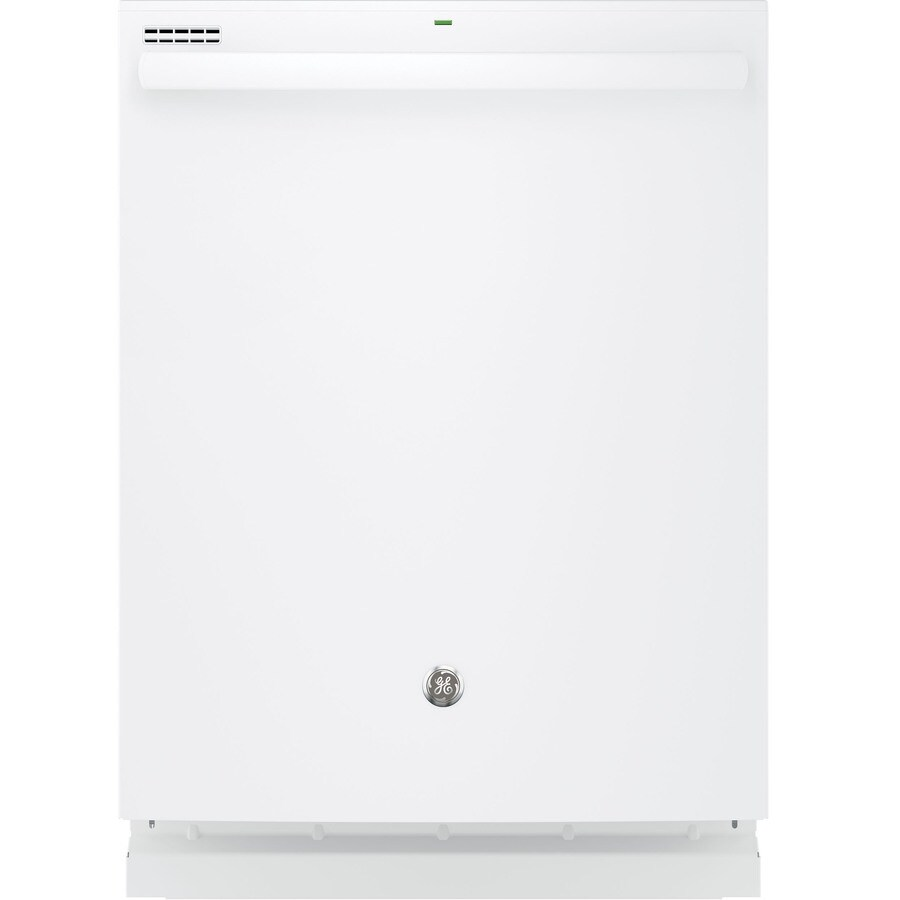 GE 52-Decibel Built-In Dishwasher with Bottle Wash Feature and Hard Food Disposer (White) (Common: 24-in; Actual: 23.75-in)