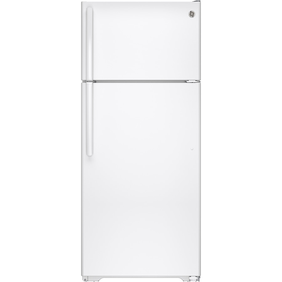 GE Autofill Pitcher 17.5-cu ft Top-Freezer Refrigerator (White)