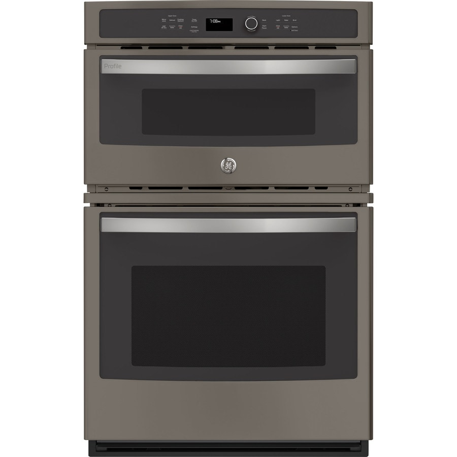 Ge Profile Self Cleaning Convection Microwave Wall Oven Combo Stainless Look Common 27 Inch Actual 26 75 In