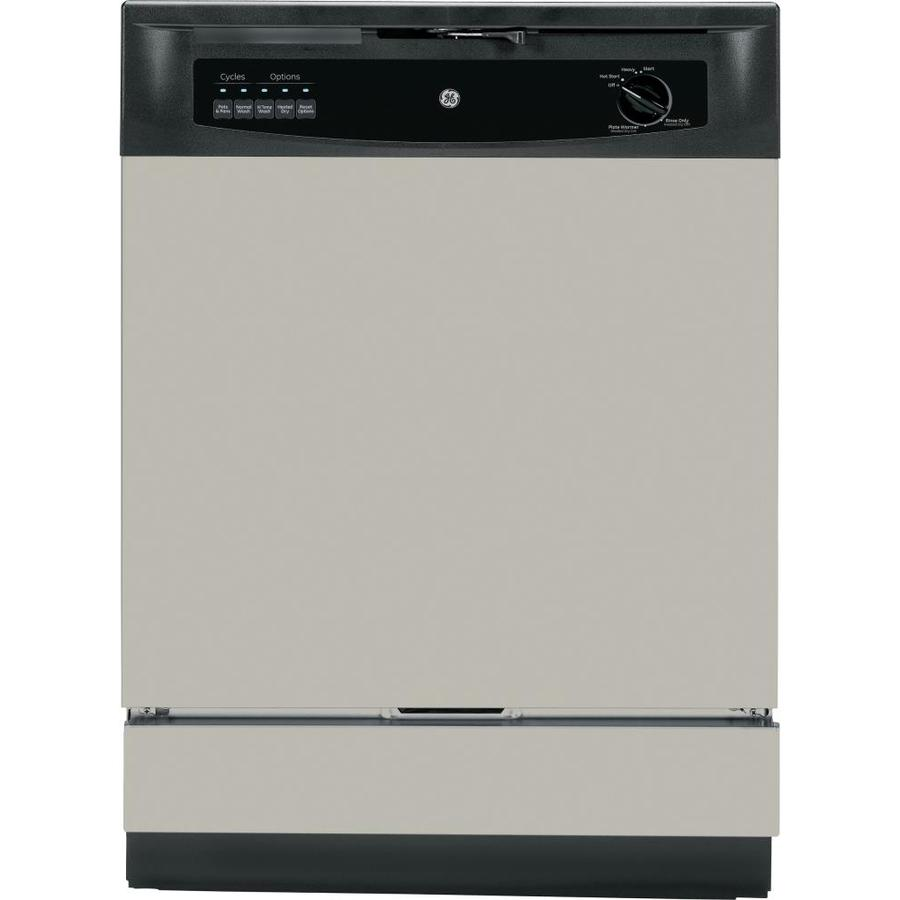 GE 62-Decibel Built-In Dishwasher with Hard Food Disposer (Silver Metallic) (Common: 24-in; Actual: 24-in)