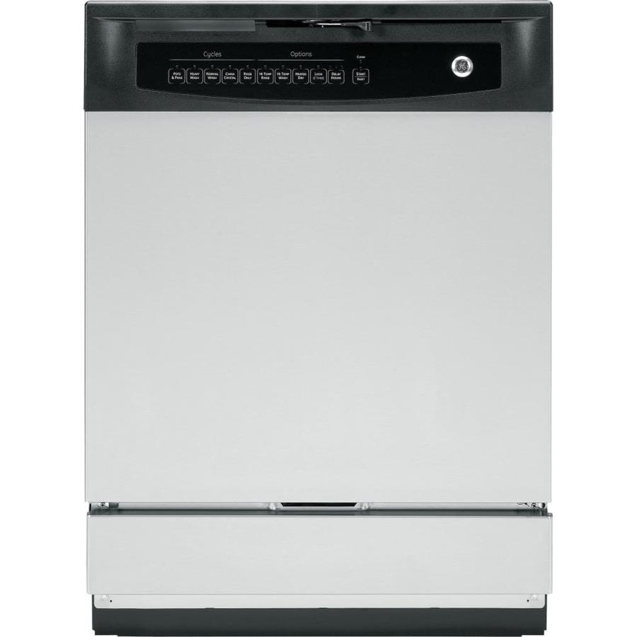 GE 60-Decibel Built-In Dishwasher with Hard Food Disposer (Stainless Steel) (Common: 24-in; Actual: 24-in) ENERGY STAR