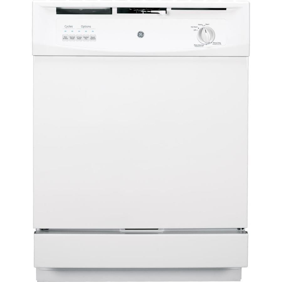 GE 62-Decibel Built-In Dishwasher and Hard Food Disposer (White) (Common: 24-in; Actual: 24-in) ENERGY STAR