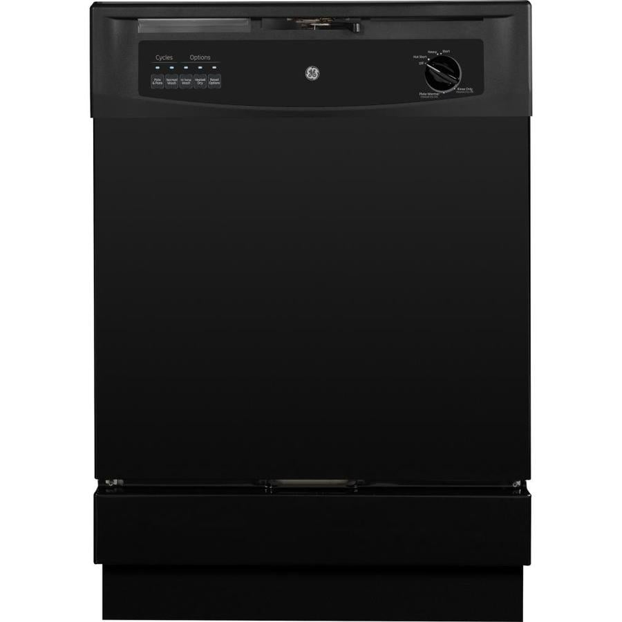 GE 62-Decibel Built-In Dishwasher with Hard Food Disposer (Black) (Common: 24-in; Actual: 24-in)