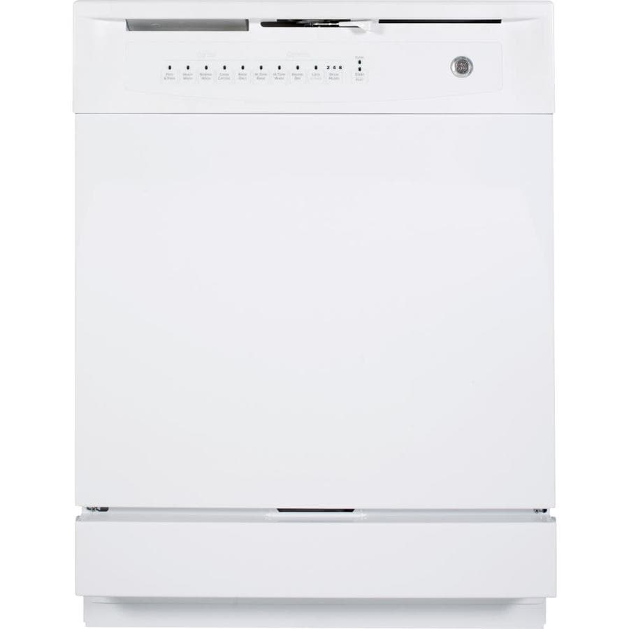 GE 60-Decibel Built-In Dishwasher with Hard Food Disposer (White) (Common: 24-in; Actual: 24-in) ENERGY STAR