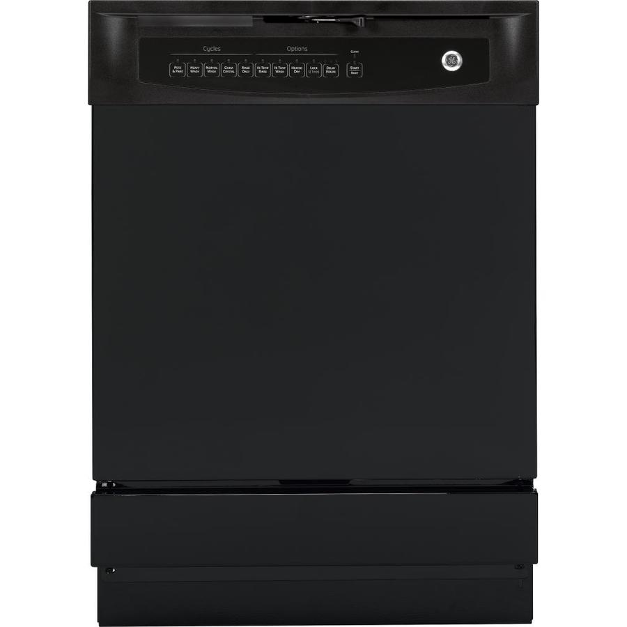 GE 60-Decibel Built-In Dishwasher with Hard Food Disposer (Black) (Common: 24-in; Actual: 24-in)