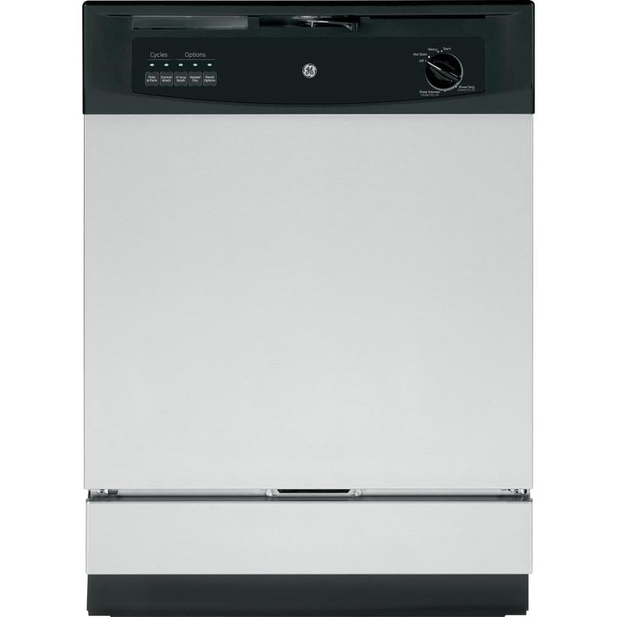 GE 62-Decibel Built-In Dishwasher with Hard Food Disposer (Stainless Steel) (Common: 24-in; Actual: 24-in)
