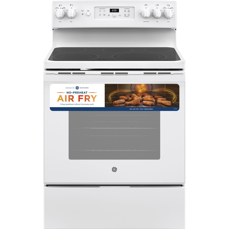 Electric Range Smooth Top Cooking Surface Summit On In: Shop GE Smooth Surface Freestanding 5-Element 5.3-cu Ft