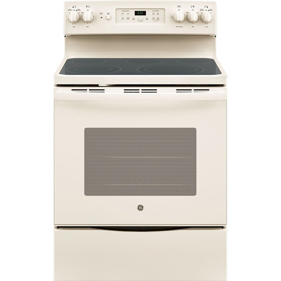 Shop Ge Smooth Surface Freestanding 5 Element 5 3 Cu Ft