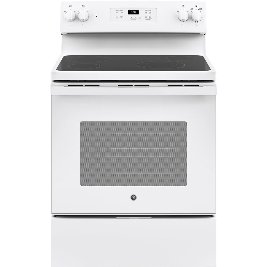 GE Smooth Surface Freestanding 5.3-cu ft Electric Range (White) (Common: 30-in; Actual: 29.875-in)