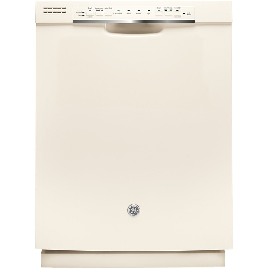 GE 48-Decibel Built-in Dishwasher with Hard Food Disposer (Bisque) (Common: 24-in; Actual: 23.75-in) ENERGY STAR