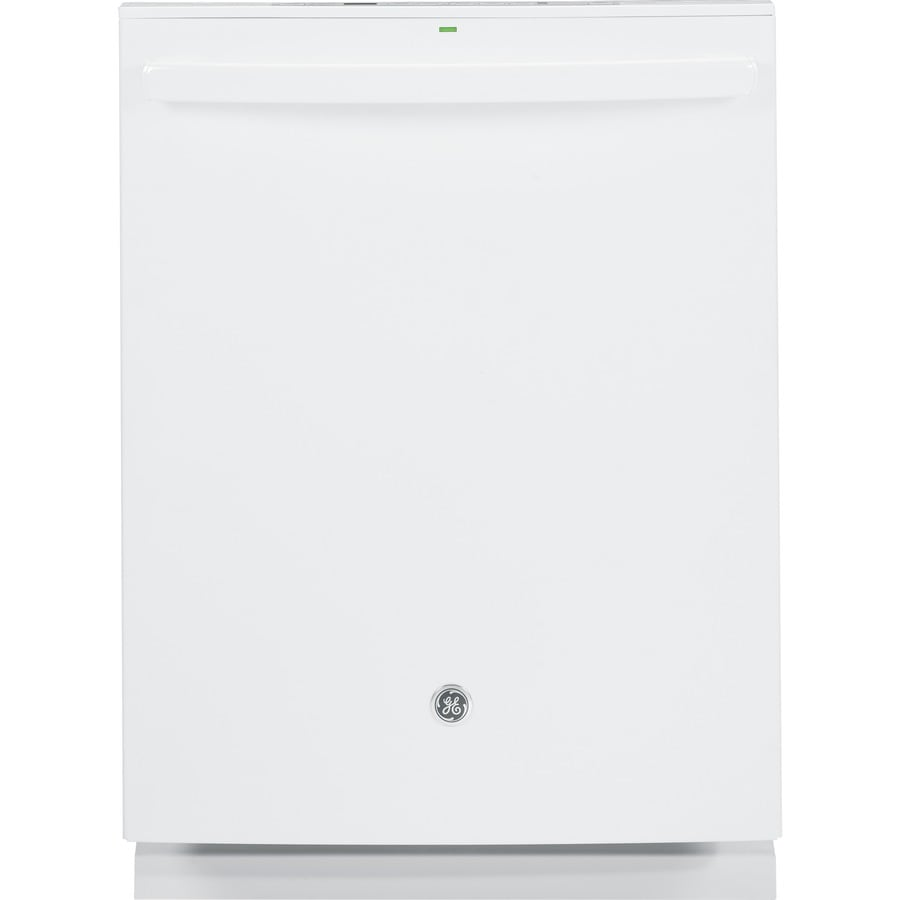 GE 46-Decibel Built-In Dishwasher with Bottle Wash and Hard Food Disposer (White) (Common: 24-in; Actual: 23.75-in) ENERGY STAR