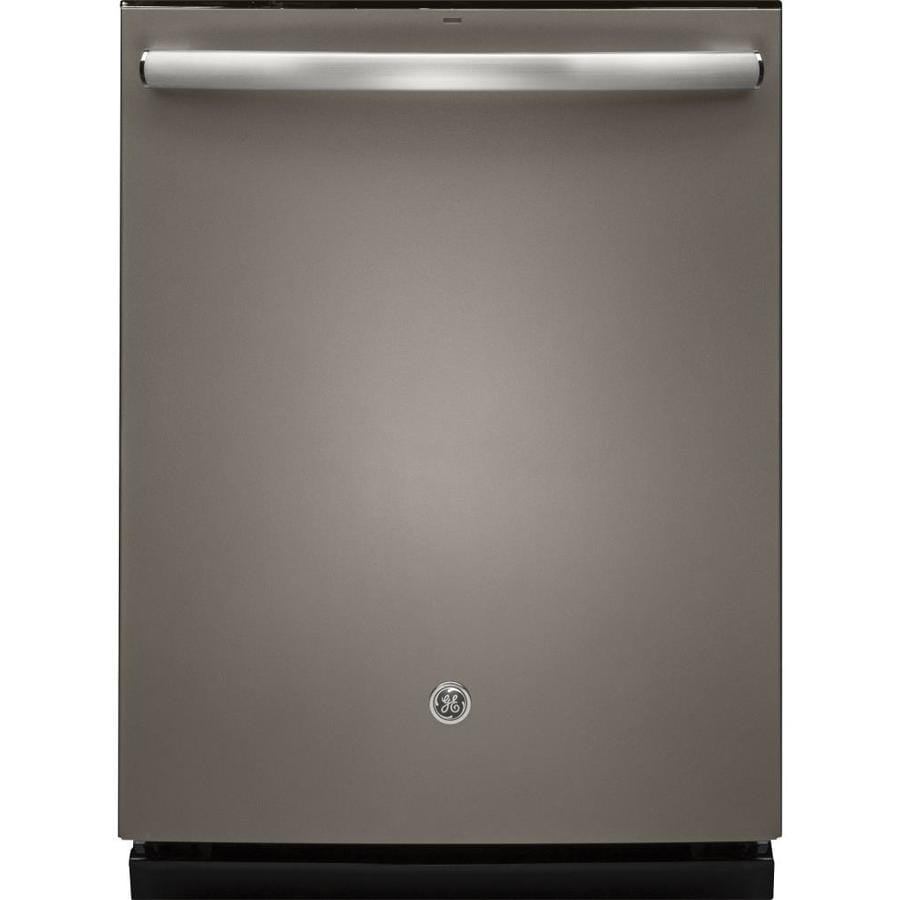GE 46-Decibel Built-In Dishwasher with Bottle Wash Feature and Hard Food Disposer (Slate) (Common: 24-in; Actual: 23.75-in)