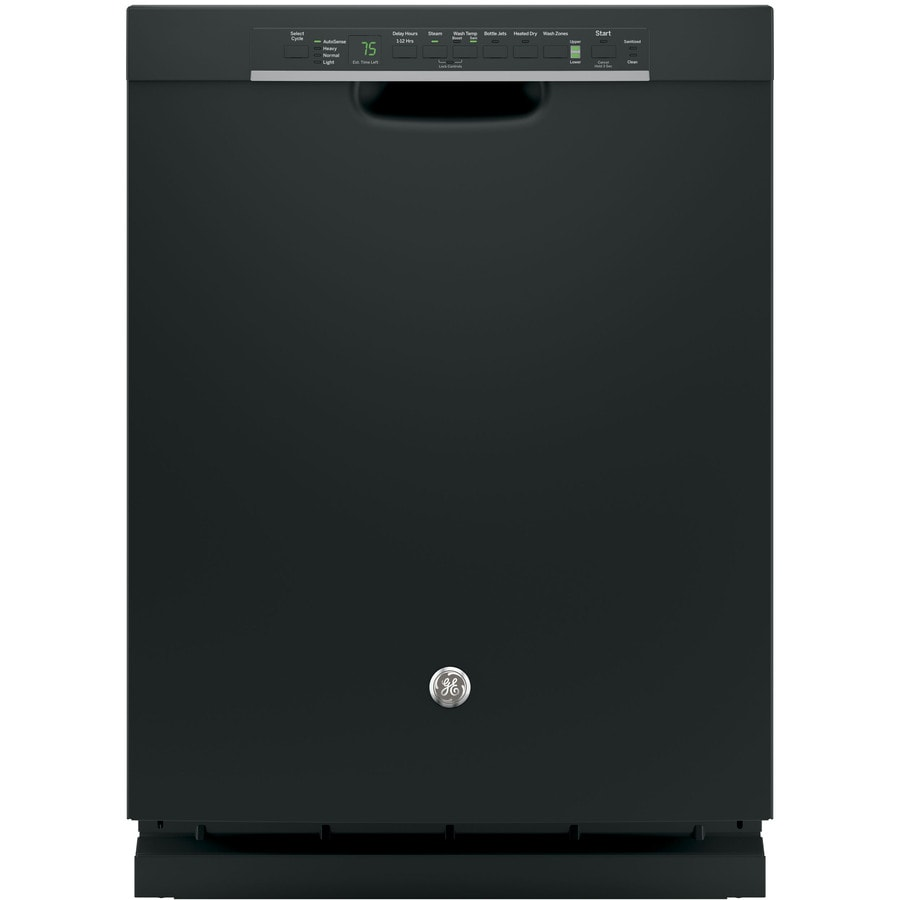 GE 46-Decibel Built-in Dishwasher with Bottle Wash Feature and Hard Food Disposer (Black) (Common: 24-in; Actual: 23.75-in) ENERGY STAR