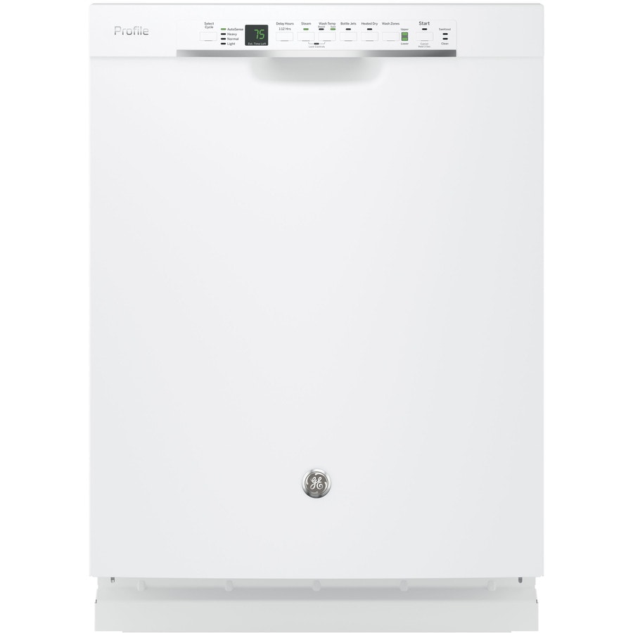 GE Profile Series 45-Decibel Built-In Dishwasher with Bottle Wash Feature (White) (Common: 24-in; Actual: 23.75-in) ENERGY STAR