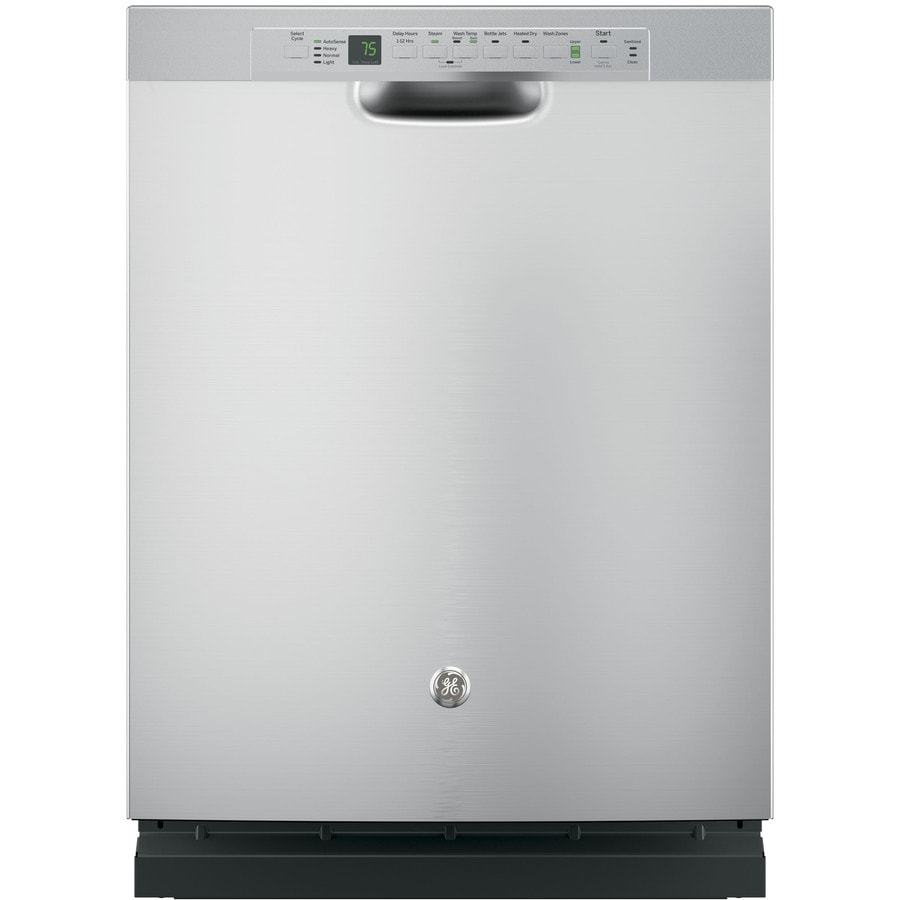 GE 46-Decibel Built-In Dishwasher with Bottle Wash Feature (Stainless Steel) (Common: 24-in; Actual: 23.75-in) ENERGY STAR