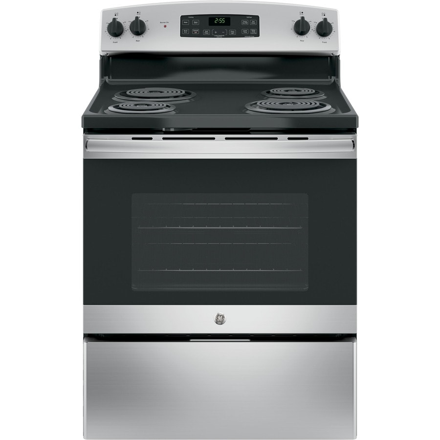 GE Freestanding 5-cu ft Self-Cleaning Electric Range (Stainless steel) (Common: 30-in; Actual: 30-in)