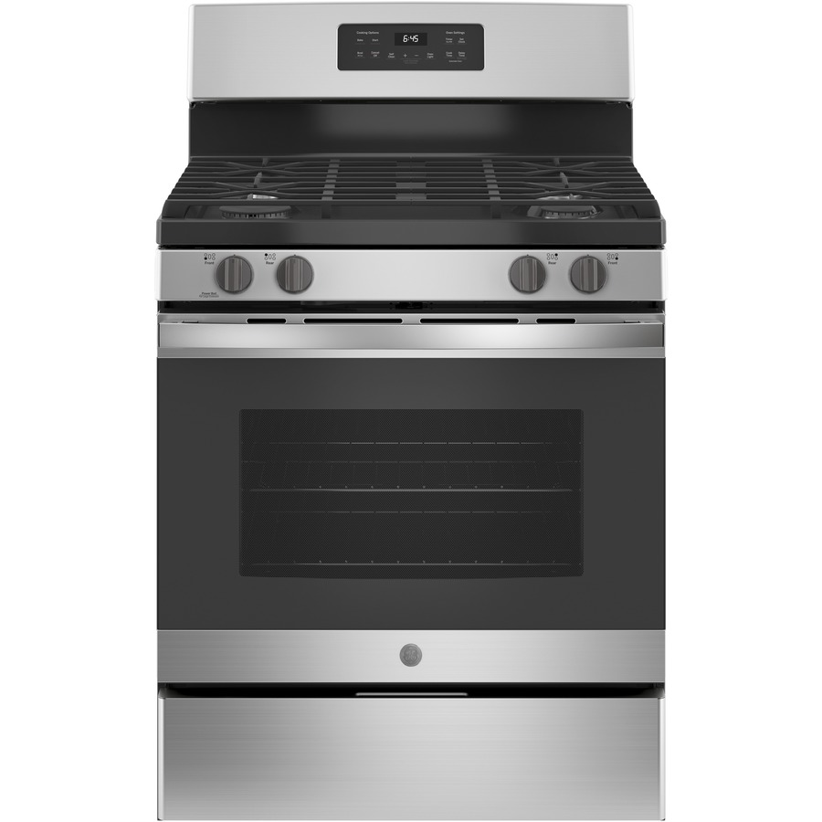 Ge 5 Cu Ft Self Cleaning Freestanding Gas Range Stainless