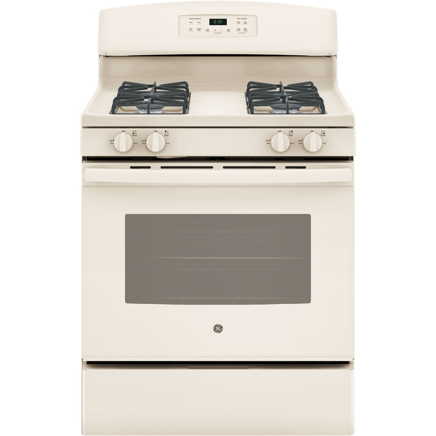 GE Freestanding 5-cu ft Self-cleaning Gas Range (Bisque) (Common: 30-in; Actual: 30-in)