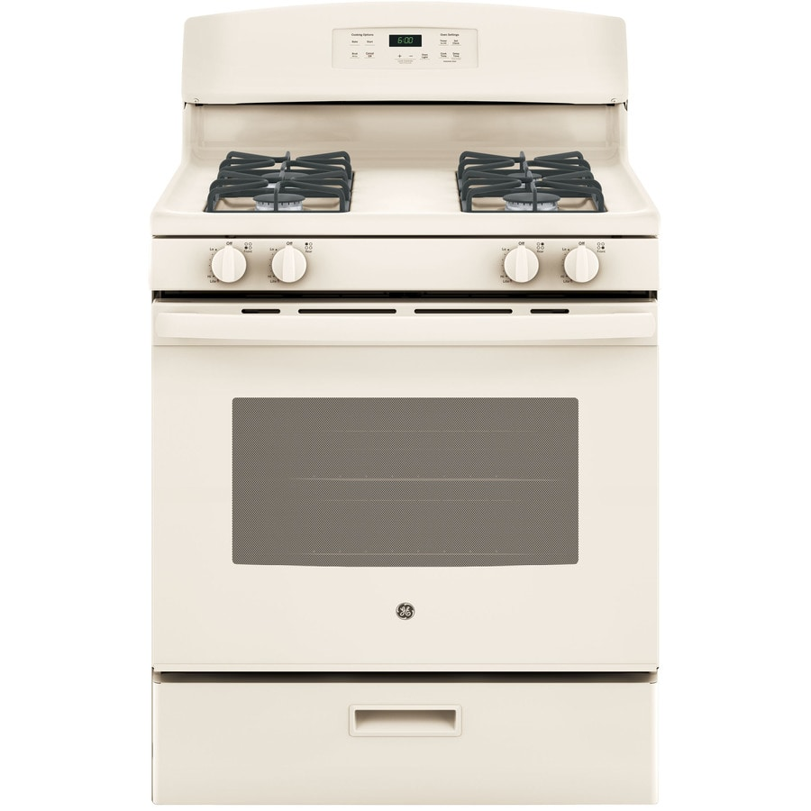 GE Freestanding 4.8-cu ft Gas Range (Bisque) (Common: 30-in; Actual: 30-in)