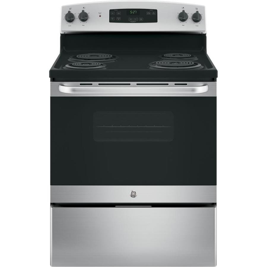 GE Freestanding 5-Element 5-cu ft Electric Range (Stainless Steel) (Common: 30-in; Actual: 30-in)