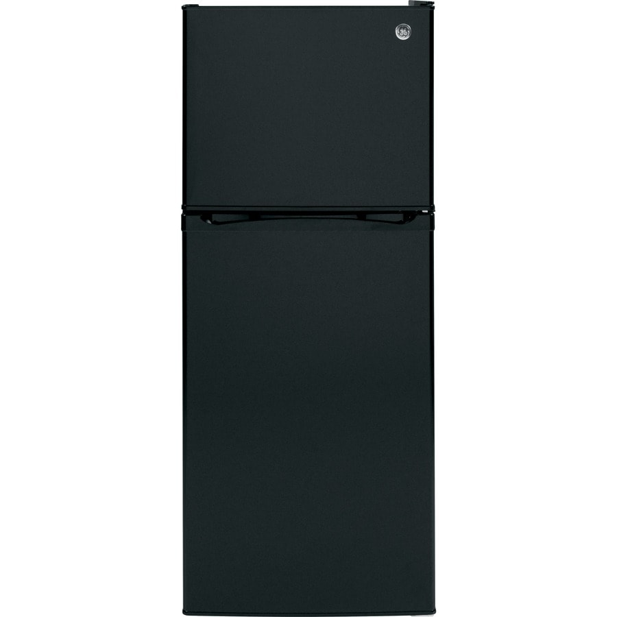 GE 11.55-cu ft Top-Freezer Refrigerator (Black) ENERGY STAR