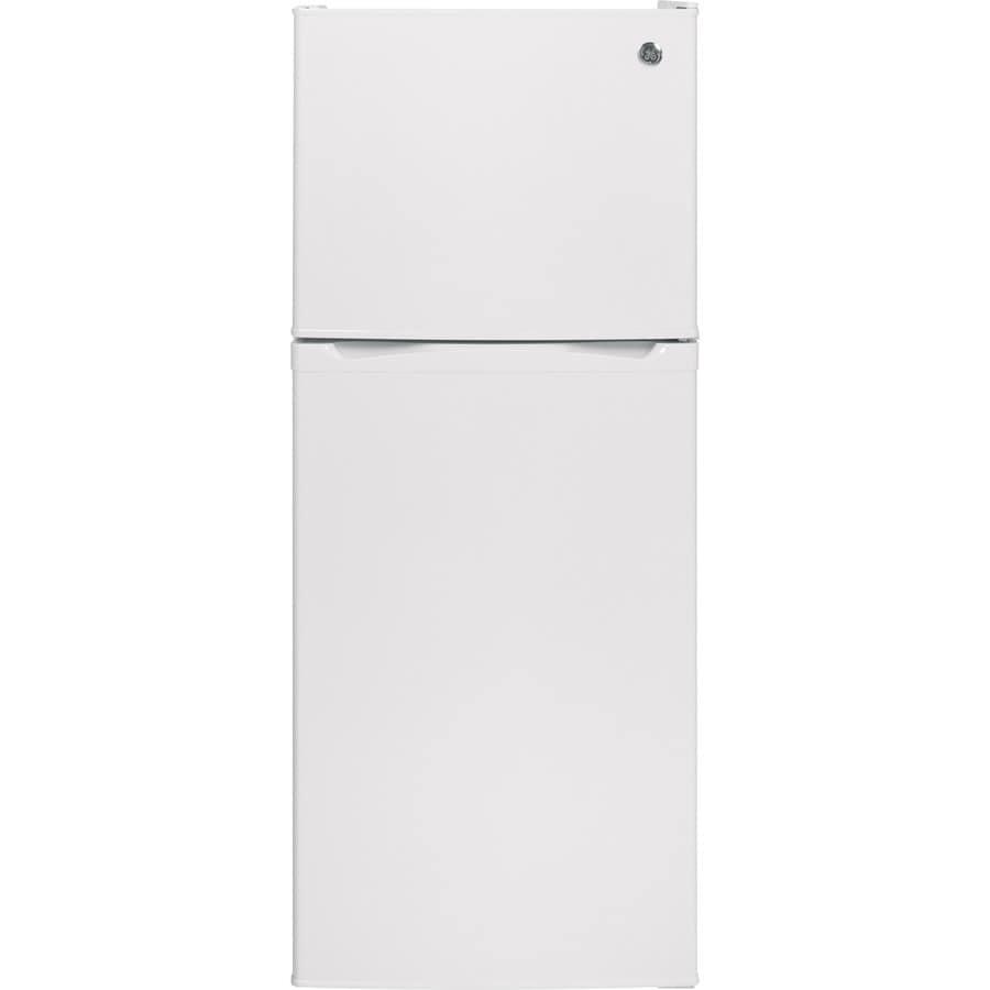GE 11.6-cu ft Top-Freezer Refrigerator (White) ENERGY STAR