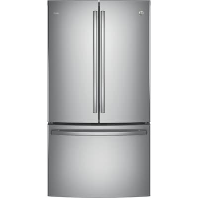GE Profile 23 1-cu ft Counter-depth French Door Refrigerator