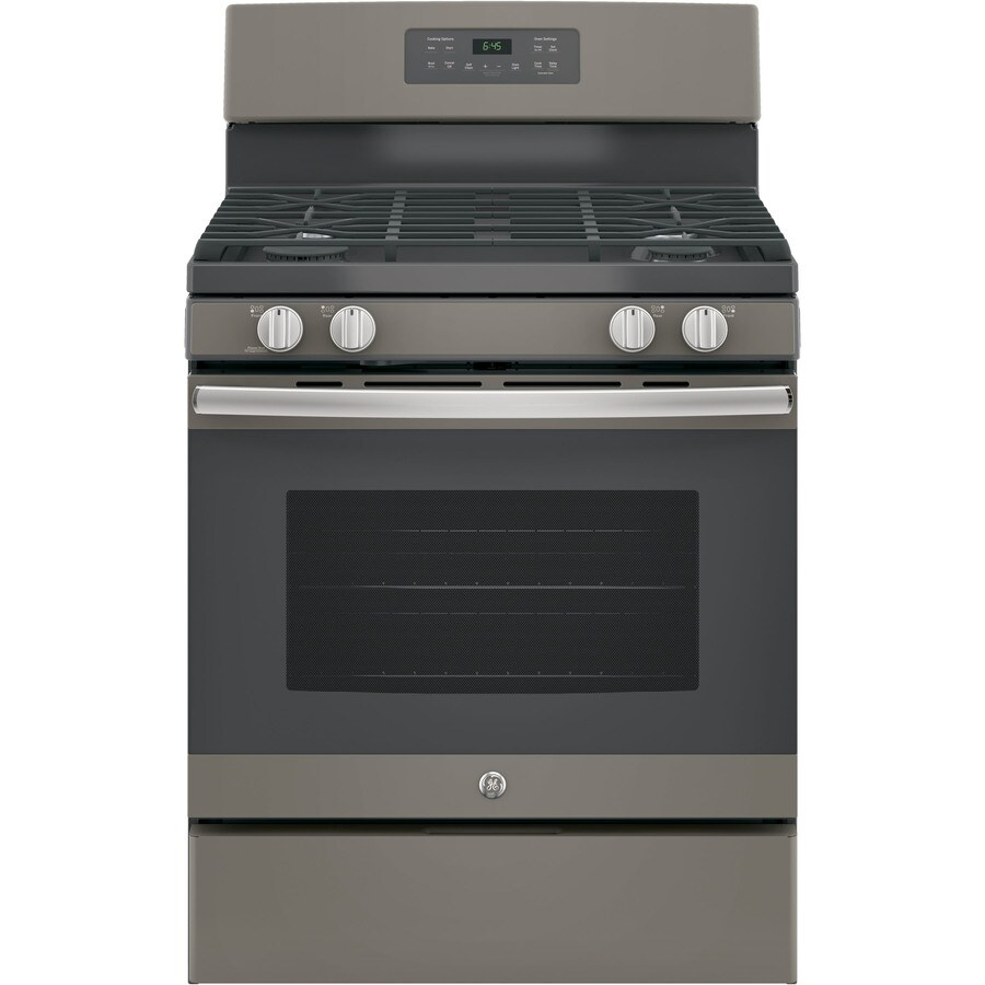 GE Freestanding 5-cu ft Self-Cleaning Gas Range (Slate) (Common: 30-in; Actual: 30-in)