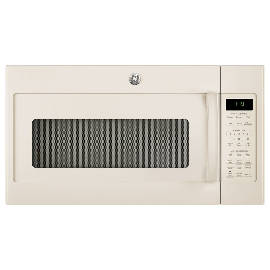 GE 1.9-cu ft Over-The-Range Microwave with Sensor Cooking Controls (Bisque) (Common: 30-in; Actual: 29.75-in)