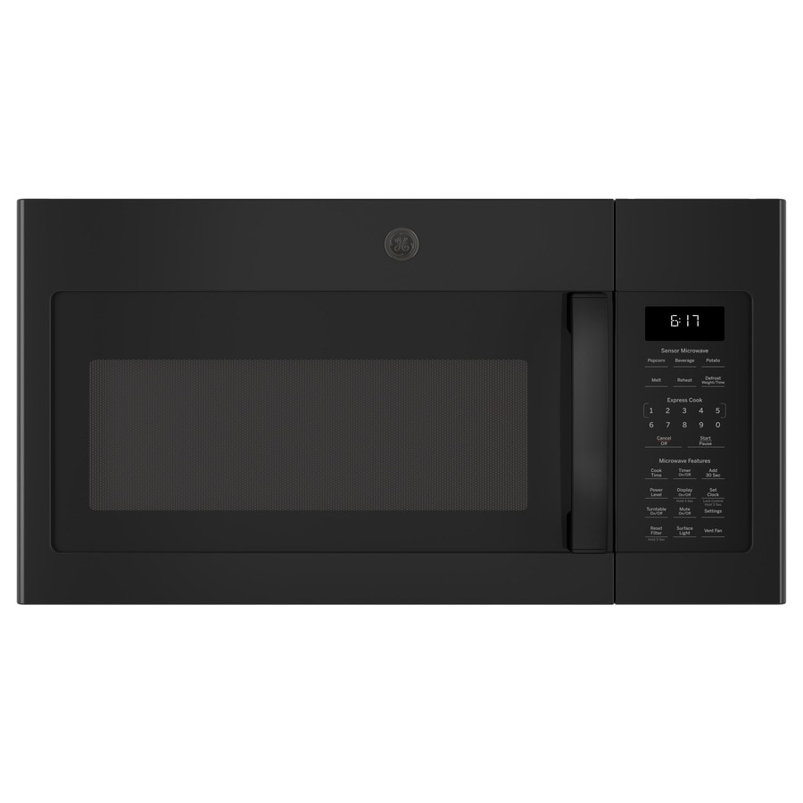 GE 1.7-cu ft Over-The-Range Microwave (Black) (Common: 30-in; Actual: 29.875-in)