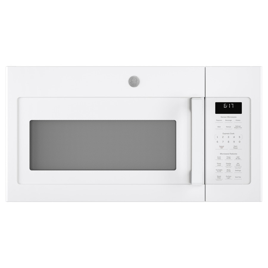 GE 1.7-cu ft Over-the-Range Microwave (White) (Common: 30-in; Actual: 29.875-in)