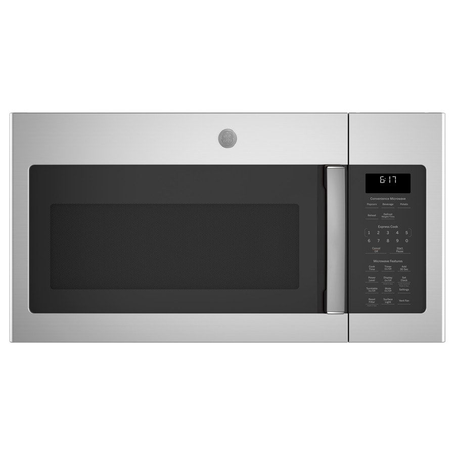 GE 1.7-cu ft Over-The-Range Microwave (Stainless Steel) (Common: 30-in; Actual: 29.875-in)