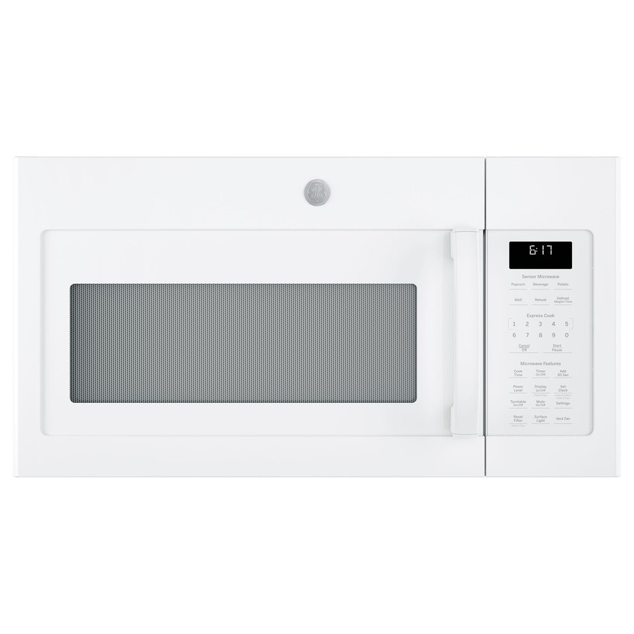 GE 1.7-cu ft Over-The-Range Microwave with Sensor Cooking Controls (White) (Common: 30-in; Actual: 29.875-in)