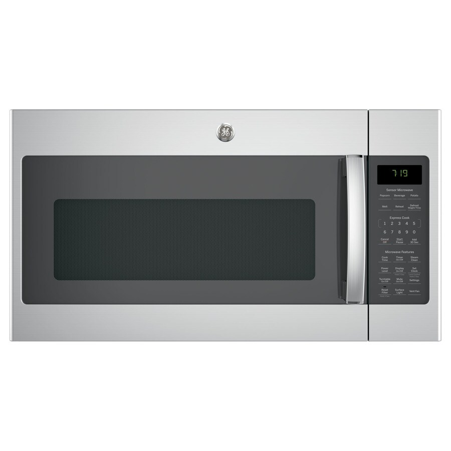 GE 1.9-cu ft Over-The-Range Microwave with Sensor Cooking Controls (Stainless Steel) (Common: 30-in; Actual: 29.75-in)