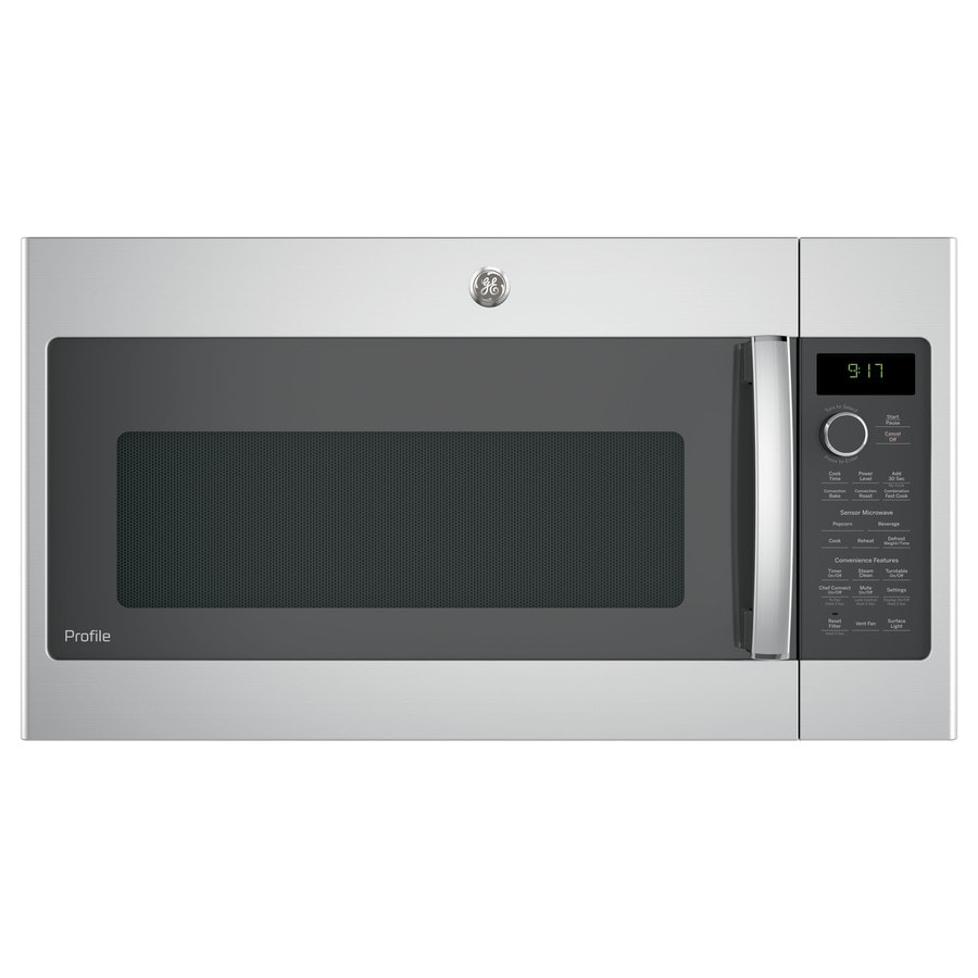 GE Profile Series 1.7-cu ft Over-the-Range Convection Microwave with Sensor Cooking Controls (Stainless Steel) (Common: 30-in; Actual: 29.875-in)