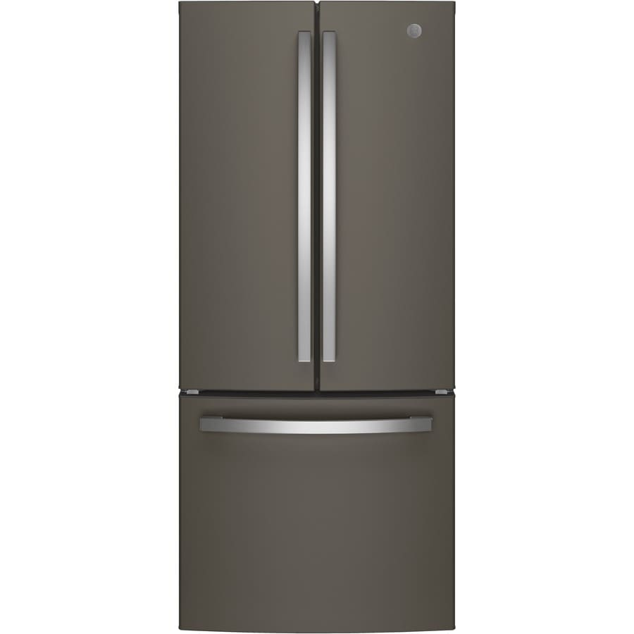 GE 20.8-cu ft French Door Refrigerator with Ice Maker (Slate) ENERGY STAR