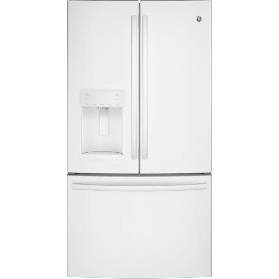 Shop Ge 25 8 Cu Ft French Door Refrigerator With Ice Maker