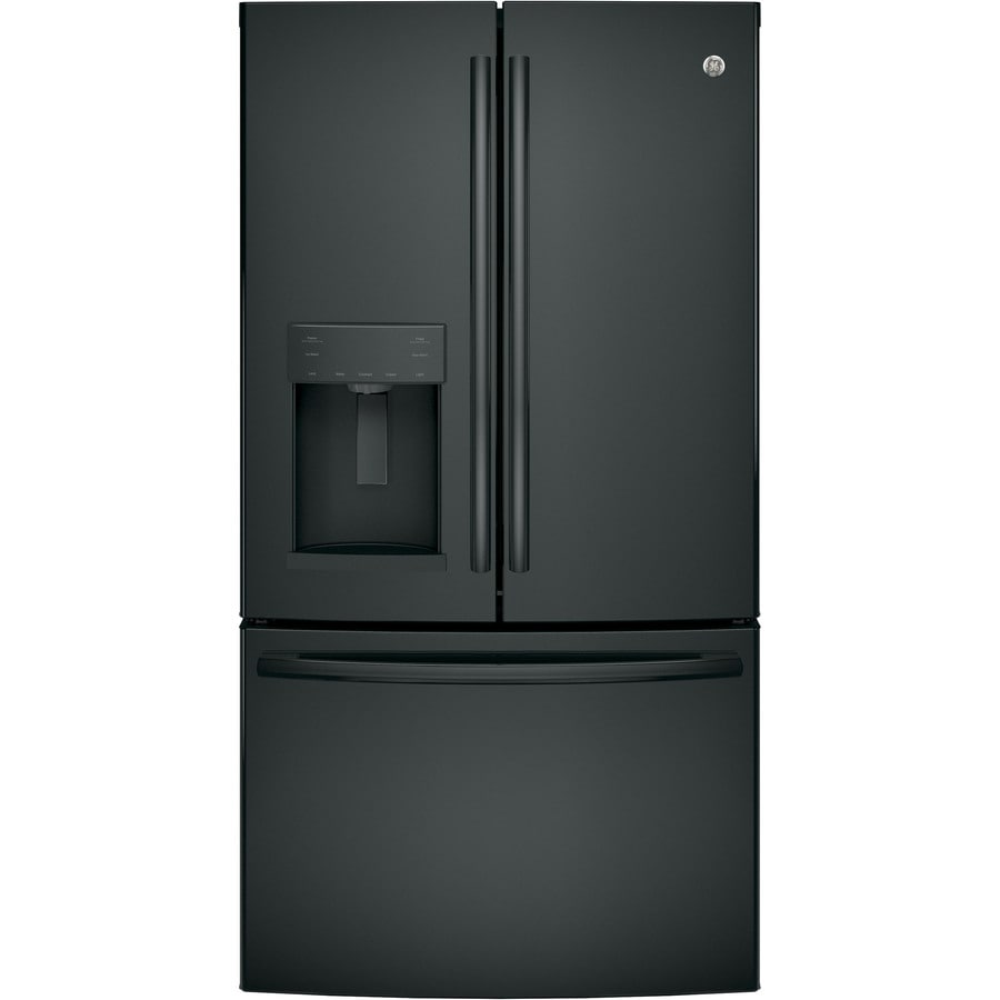 GE 27.8-cu ft French Door Refrigerator with Ice Maker (Black) ENERGY STAR