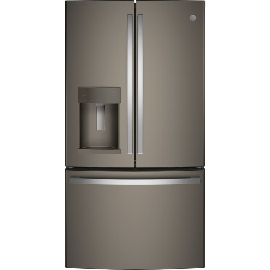 Ge 27 8 Cu Ft French Door Refrigerator With Ice Maker Fingerprint Resistant Slate
