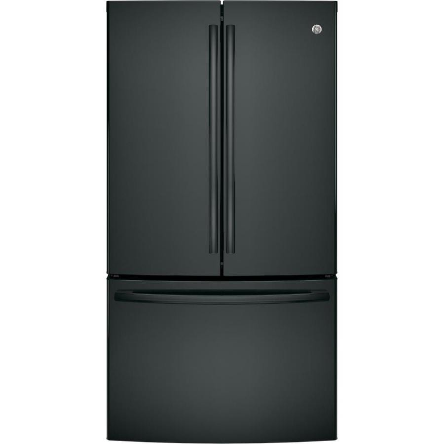 GE 28.5-cu ft French Door Refrigerator with Ice Maker (Black) ENERGY STAR