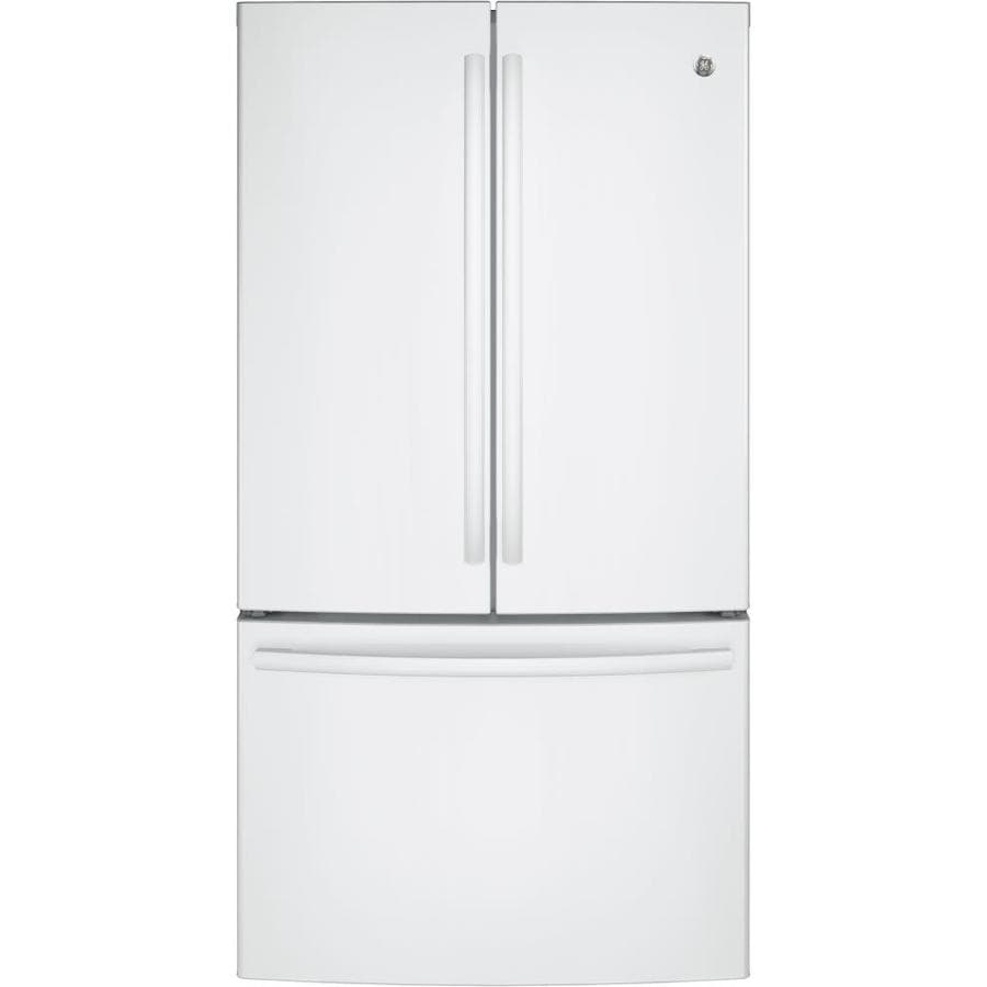 Shop Ge 28 5 Cu Ft French Door Refrigerator With Ice Maker