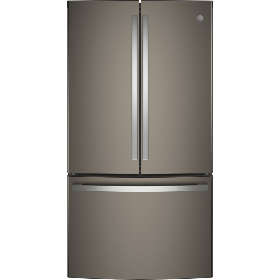Shop Ge 28 7 Cu Ft French Door Refrigerator With Ice Maker