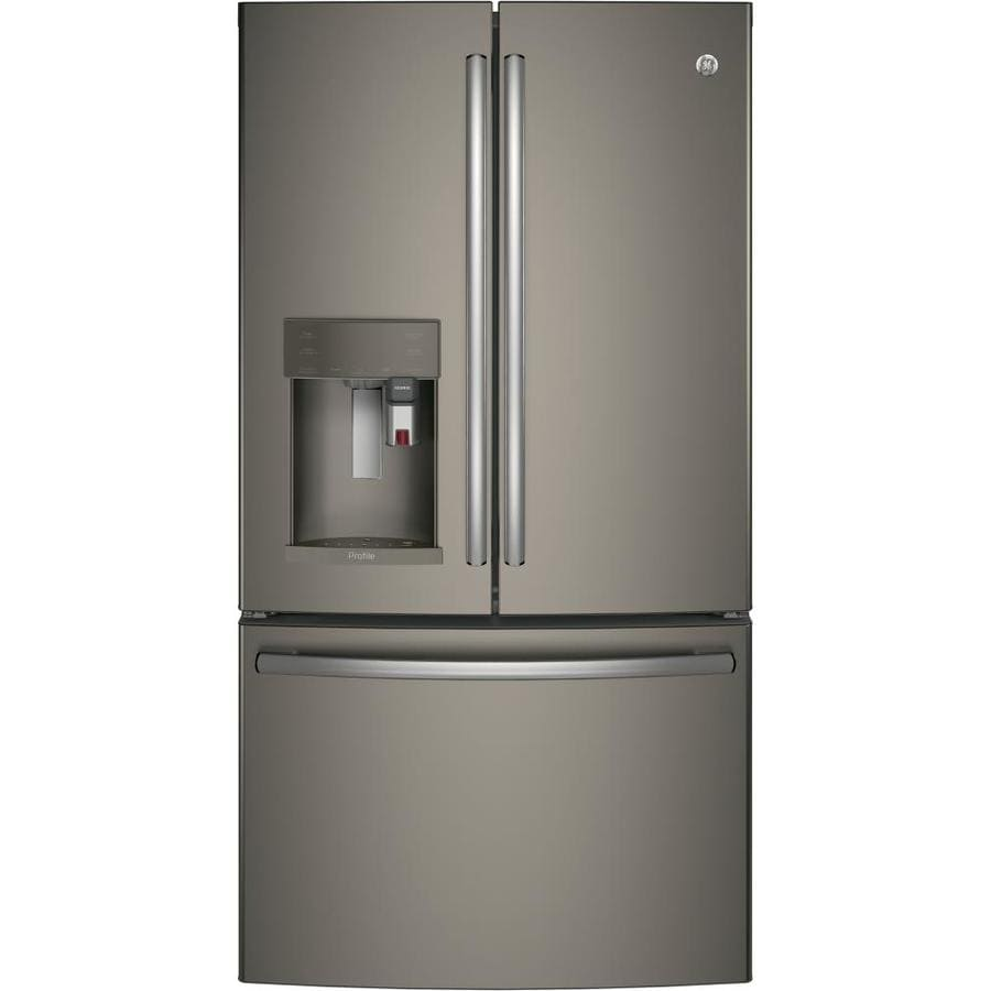 GE Profile with Keurig K-CUP Brewing System 27.8-cu ft French Door Refrigerator with Ice Maker (Fingerprint-Resistant Slate) ENERGY STAR