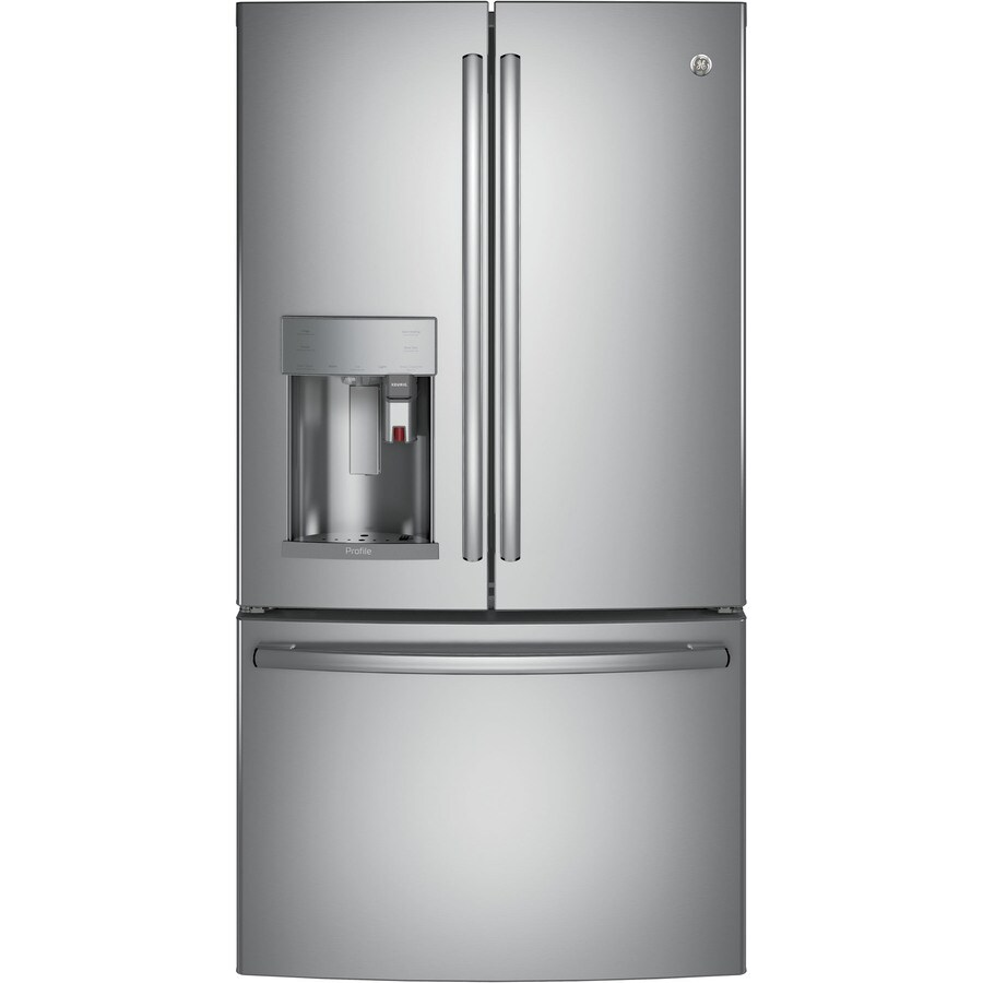 GE Profile Series 27.8-cu ft French Door Refrigerator with Single Ice Maker (Stainless Steel) ENERGY STAR