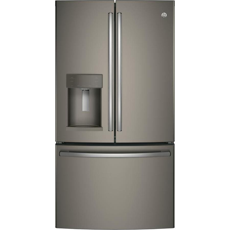 GE 25.8-cu ft French Door Refrigerator with Ice Maker (Slate) ENERGY STAR
